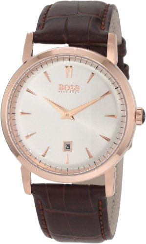 ヒューゴボス 高級腕時計 メンズ 1512634 【送料無料】Hugo Boss Classics White Dial Gold Tone SS Brown Leather Male Watch 1512634ヒューゴボス 高級腕時計 メンズ 1512634