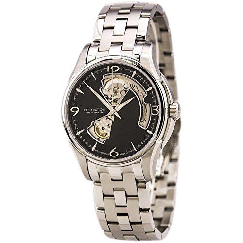 腕時計 ハミルトン メンズ H32565135 【送料無料】Hamilton Jazzmaster Open Heart Automatic Black Dial Men's Watch #H32565135腕時計 ハミルトン メンズ H32565135