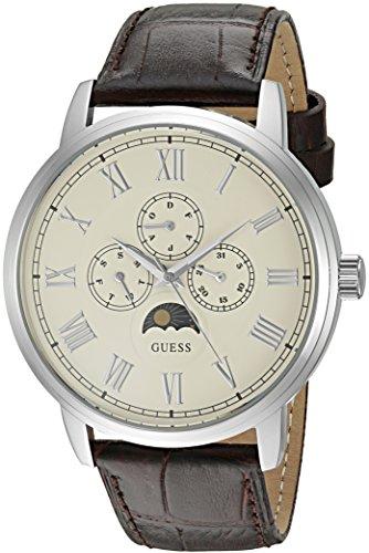ゲス GUESS 腕時計 メンズ U0870G1 GUESS Men's U0870G1 Dressy Stainless Steel Watch with Multi-function Dial and Genuine Leather Strap Buckleゲス GUESS 腕時計 メンズ U0870G1