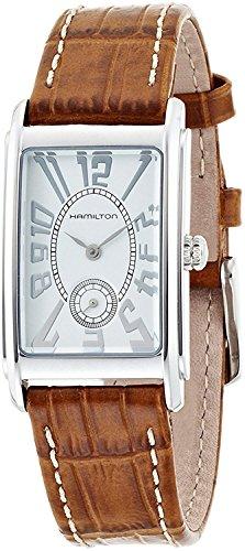 ハミルトン 腕時計 メンズ 【送料無料】Hamilton Ardmore Silver Dial Leather Strap Ladies Watch H11411553ハミルトン 腕時計 メンズ