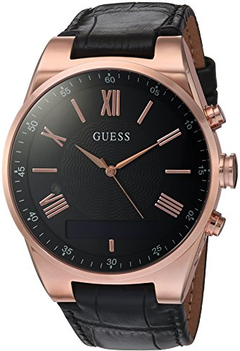 ゲス GUESS 腕時計 メンズ C0002MB3 GUESS Men's Stainless Steel Connect Smart Watch - Amazon Alexa, iOS and Android Compatible, Color: Black (Model: C0002MB3)ゲス GUESS 腕時計 メンズ C0002MB3