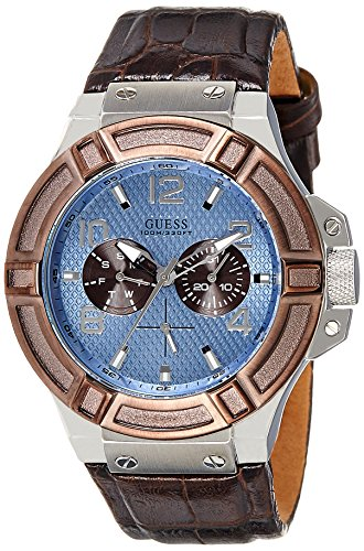 ゲス GUESS 腕時計 メンズ W0040G10 【送料無料】Guess Rigor W0040G10 45mm Stainless Steel Case Brown Calfskin Mineral Men's Watchゲス GUESS 腕時計 メンズ W0040G10