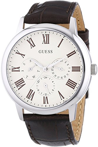 ゲス GUESS 腕時計 メンズ W70016G2 【送料無料】GUESS W70016G2,Men's Multi-Function Dress Sport,Leather Strap,Stainless Steel Case,WRゲス GUESS 腕時計 メンズ W70016G2