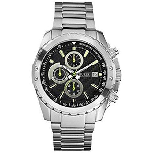 ゲス GUESS 腕時計 メンズ U16526G1 【送料無料】Guess Men's U16526G1 Silver Stainless-Steel Quartz Watch with Black Dialゲス GUESS 腕時計 メンズ U16526G1