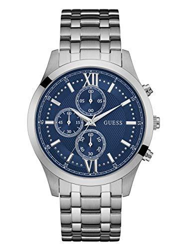 ゲス GUESS 腕時計 メンズ U0875G1 【送料無料】GUESS Factory Blue and Silver-Tone Chronograph Watchゲス GUESS 腕時計 メンズ U0875G1