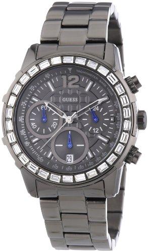 ゲス GUESS 腕時計 レディース Lady B. GUESS Lady B Grey Stainless Steel Chronograph Ladies Watch W0016L3ゲス GUESS 腕時計 レディース Lady B.