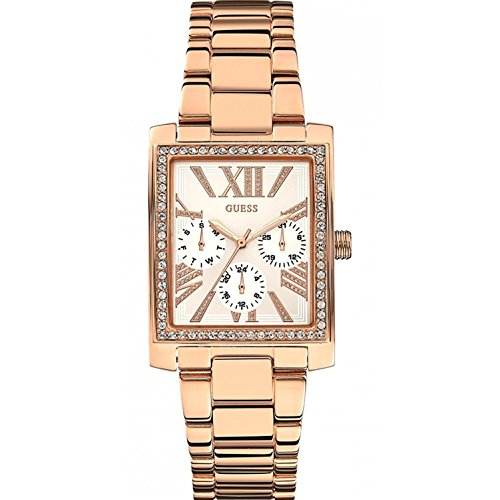 ゲス GUESS 腕時計 レディース W0446L3 【送料無料】GUESS Women's 30mm Rose Gold-Tone Steel Bracelet & Case Quartz Silver-Tone Dial Analog Watch W0446L3ゲス GUESS 腕時計 レディース W0446L3