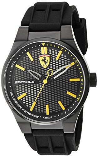 フェラーリ 腕時計 メンズ 830354 Scuderia Ferrari Men's Stainless Steel Quartz Watch with Silicone Strap, Black, 0.63 (Model: 830354)フェラーリ 腕時計 メンズ 830354