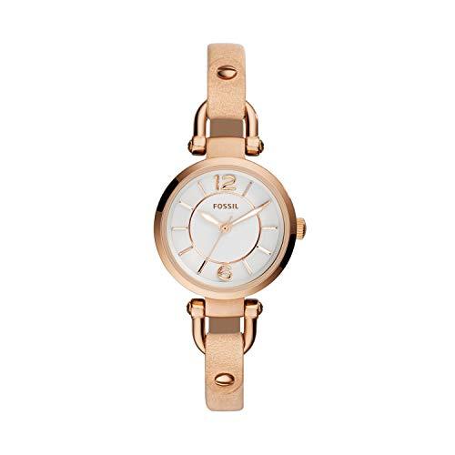 フォッシル 腕時計 レディース ES3745 【送料無料】Fossil Women's ES3745 Georgia Gold-Tone Stainless Steel Watch with Leather Strapフォッシル 腕時計 レディース ES3745