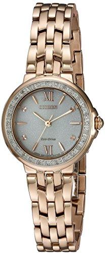 シチズン 逆輸入 海外モデル 海外限定 アメリカ直輸入 EM0443-59A 【送料無料】Citizen Women's 'Diamond' Quartz Stainless Steel Casual Watch, Color:Rose Gold-Toned (Model: EM0443-59A)シチズン 逆輸入 海外モデル 海外限定 アメリカ直輸入 EM0443-59A
