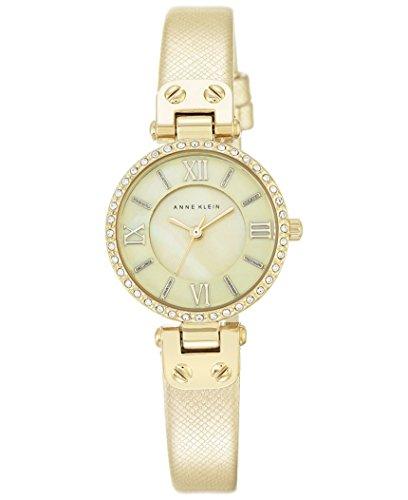 アンクライン 腕時計 レディース Anne Klein Women's Gold-Tone Textured Saffiano Faux Leather Strap Watch 28mm AK/2214CMGDアンクライン 腕時計 レディース