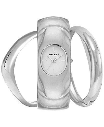 アンクライン 腕時計 レディース Anne Klein Women's Silver-Tone Bangle Bracelet Watch & Bangle Bracelets Set 30mm AK/2637SVSTアンクライン 腕時計 レディース
