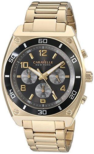 ブローバ 腕時計 メンズ 45A111 Caravelle New York Men's 45A111 Analog Display Japanese Quartz Gold Watchブローバ 腕時計 メンズ 45A111