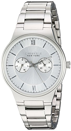 ブローバ 腕時計 メンズ 43A134 【送料無料】Caravelle New York Men's Analog-Quartz Watch with Stainless-Steel Strap, Silver, 0.72 (Model: 43A134)ブローバ 腕時計 メンズ 43A134