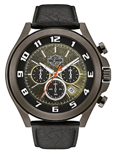 ブローバ 腕時計 メンズ 78B149 Harley-Davidson Men's Six-Hand Chronograph Watch, Tumbled Gray Finish 78B149ブローバ 腕時計 メンズ 78B149