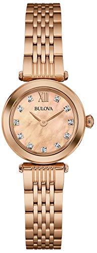 腕時計 ブローバ メンズ 97S116 【送料無料】Bulova Ladies Women's Designer Diamond Watch Bracelet - Rose Gold Wrist Watch 97S116腕時計 ブローバ メンズ 97S116