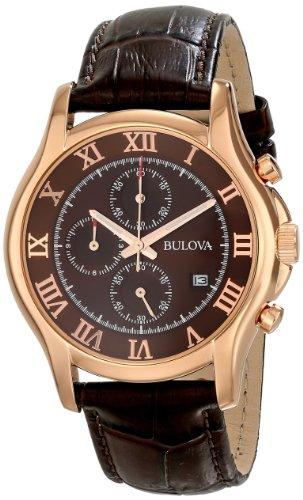 ブローバ 腕時計 メンズ 97B120 【送料無料】Bulova Men's 97B120 Chronograph Rose-Gold Strap Watchブローバ 腕時計 メンズ 97B120