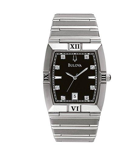 ブローバ 腕時計 メンズ 96D001 【送料無料】Bulova Men's 96D001 Diamond Dial Calendar Watchブローバ 腕時計 メンズ 96D001