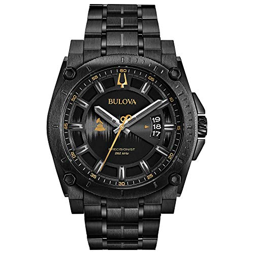 "ブローバ 腕時計 メンズ 98B295 【送料無料】Bulova Men""s Grammy Watch Analog-Quartz Stainless-Steel Strap, Black, 24 (Model: 98B295)ブローバ 腕時計 メンズ 98B295"