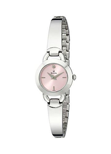 ブローバ 腕時計 レディース 96P138 Bulova Pink Dial Stainless Steel Ladies Watch 96P138ブローバ 腕時計 レディース 96P138
