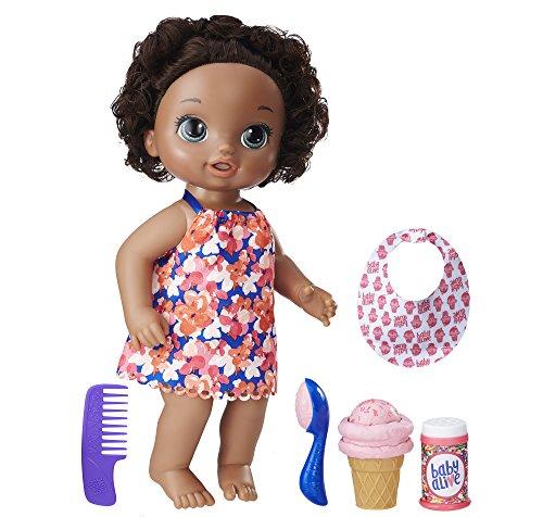 アイスクリームをどうぞ★ベビーアライブ マジカルスクープベビー アフリカンアメリカン 初めてのお世話人形に最適 簡易パッケージ