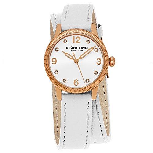 腕時計 ストゥーリングオリジナル レディース 646.03 【送料無料】Stuhrling Original Women's 646.03 Vogue Swiss Quartz Crystals Double Wrap White Watch腕時計 ストゥーリングオリジナル レディース 646.03