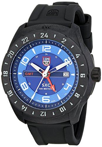 腕時計 ルミノックス アメリカ海軍SEAL部隊 ミリタリーウォッチ メンズ 5023 【送料無料】Luminox Men's 5023 SXC PC Carbon GMT Analog Display Analog Quartz Black Watch腕時計 ルミノックス アメリカ海軍SEAL部隊 ミリタリーウォッチ メンズ 5023