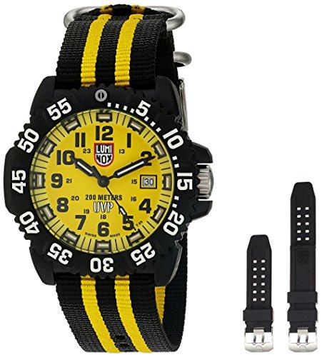 腕時計 ルミノックス アメリカ海軍SEAL部隊 ミリタリーウォッチ メンズ 3955.SET 【送料無料】Luminox Men's 'Scott Cassell' Swiss Quartz Resin and Rubber Watch, Color:Black (腕時計 ルミノックス アメリカ海軍SEAL部隊 ミリタリーウォッチ メンズ 3955.SET