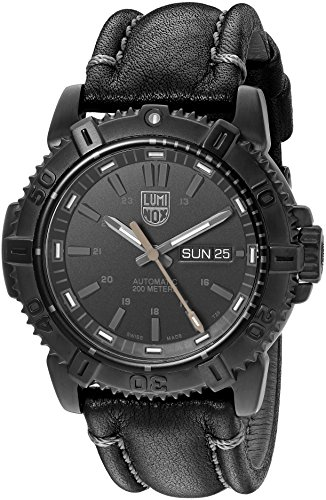 ルミノックス アメリカ海軍SEAL部隊 ミリタリーウォッチ 腕時計 メンズ 6501.BO 【送料無料】Luminox Men's 'Mariner' Swiss Stainless Steel and Leather Automatic Watch, Color:Bルミノックス アメリカ海軍SEAL部隊 ミリタリーウォッチ 腕時計 メンズ 6501.BO