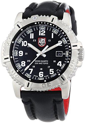 """ルミノックス アメリカ海軍SEAL部隊 ミリタリーウォッチ 腕時計 メンズ 6251 【送料無料】Luminox Modern Mariner Black Dial SS Leather Quartz Men""""s Watch 6251.BOルミノックス アメリカ海軍SEAL部隊 ミリタリーウォッチ 腕時計 メンズ 6251"""