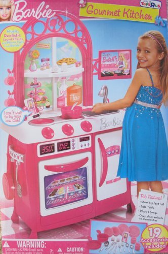 交換無料! バービー バービー人形 SOUNDS, 日本未発売 プレイセット アクセサリ BARBIE GOURMET Over GOURMET KITCHEN Over 3.5 Ft Tall CHILD SIZE Playset w 19 Accessories, SOUNDS, MUSIC & More! TOYS