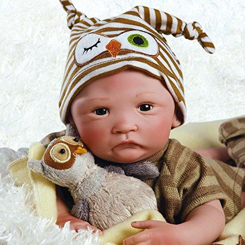 パラダイスギャラリーズ 赤ちゃん リアル 本物そっくり おままごと 21072200 Paradise Galleries Hoot! Hoot! Baby Doll That Looks Like a Real Baby, 16 inch Vinyl, Preemie Reborn Boy, Sパラダイスギャラリーズ 赤ちゃん リアル 本物そっくり おままごと 21072200