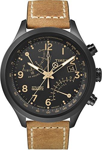 タイメックス 腕時計 メンズ T2N700 Timex Men's T2N700 Intelligent Quartz Fly-Back Chronograph Brown Leather Strap Watchタイメックス 腕時計 メンズ T2N700