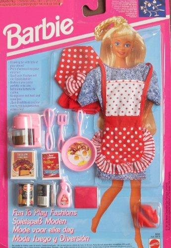 バービー バービー人形 着せ替え 衣装 ドレス Barbie FUN TO PLAY FASHIONS & Accessories CHEF BREAKFAST TIME (1993)バービー バービー人形 着せ替え 衣装 ドレス