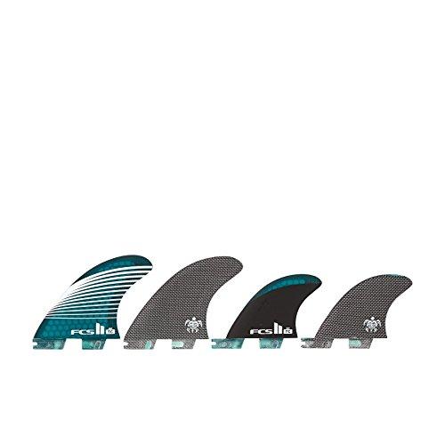 サーフィン フィン マリンスポーツ FCS II Tom Carroll CC Quad SUP Fin Medium Grey/Blueサーフィン フィン マリンスポーツ