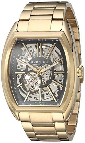 ケネスコール・ニューヨーク Kenneth Cole New York 腕時計 メンズ 10030813 Kenneth Cole New York Men's Automatic-self-Wind Watch with Stainless-Steel Strap, Gold, 24 (Model: 1003081ケネスコール・ニューヨーク Kenneth Cole New York 腕時計 メンズ 10030813