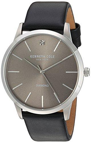 ケネスコール・ニューヨーク Kenneth Cole New York 腕時計 メンズ 10031277 【送料無料】Kenneth Cole New York Men's Diamond Stainless Steel Japanese-Quartz Watch with Leather Sケネスコール・ニューヨーク Kenneth Cole New York 腕時計 メンズ 10031277