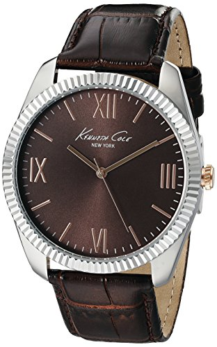 ケネスコール・ニューヨーク Kenneth Cole New York 腕時計 メンズ 10019681 【送料無料】Kenneth Cole New York Men's 10019681 Silver-Tone Watch with Brown Dial and Brown Strapケネスコール・ニューヨーク Kenneth Cole New York 腕時計 メンズ 10019681