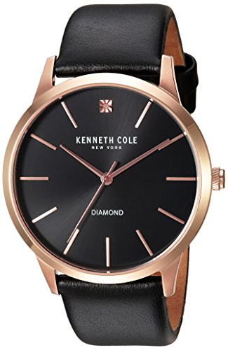 ケネスコール・ニューヨーク Kenneth Cole New York 腕時計 メンズ 10031278 【送料無料】Kenneth Cole New York Men's Diamond Stainless Steel Japanese-Quartz Watch with Leather Sケネスコール・ニューヨーク Kenneth Cole New York 腕時計 メンズ 10031278