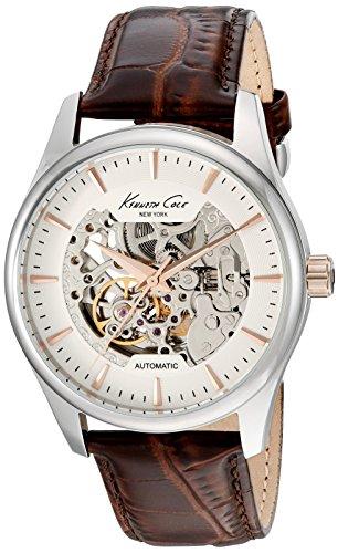 ケネスコール・ニューヨーク Kenneth Cole New York 腕時計 メンズ 10027198 Kenneth Cole New York Men's 'Automatic' Automatic Stainless Steel and Brown Leather Dress Watch (Model: 10ケネスコール・ニューヨーク Kenneth Cole New York 腕時計 メンズ 10027198