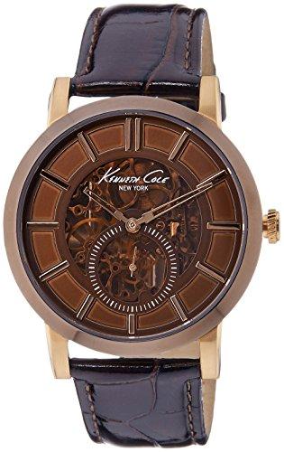 ケネスコール・ニューヨーク Kenneth Cole New York 腕時計 メンズ KC1933 【送料無料】Kenneth Cole New York Men's Swiss Automatic Stainless Steel Case Leather Strap Brown,(Model:ケネスコール・ニューヨーク Kenneth Cole New York 腕時計 メンズ KC1933