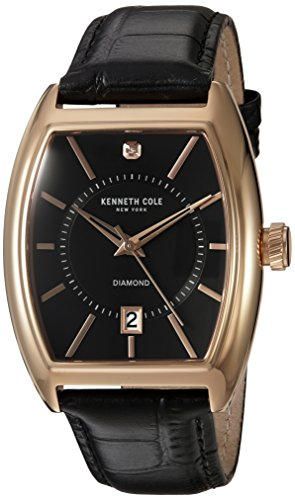 ケネスコール・ニューヨーク Kenneth Cole New York 腕時計 メンズ 10030819 【送料無料】Kenneth Cole New York Men's 'Diamond' Quartz Stainless Steel and Leather Dress Watch, Coケネスコール・ニューヨーク Kenneth Cole New York 腕時計 メンズ 10030819