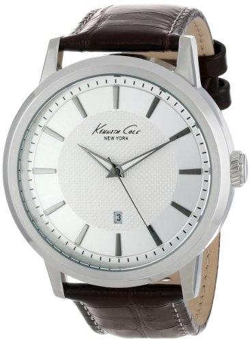 腕時計 ケネスコール・ニューヨーク Kenneth Cole New York メンズ KC1952 【送料無料】Kenneth Cole New York Men's Quartz Stainless Steel Case Leather Strap Brown,(Model:KC1952)腕時計 ケネスコール・ニューヨーク Kenneth Cole New York メンズ KC1952