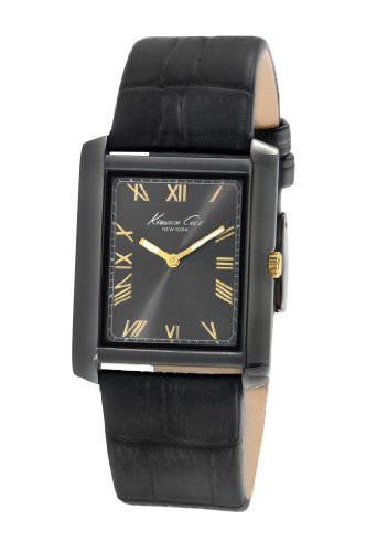 腕時計 ケネスコール・ニューヨーク Kenneth Cole New York メンズ KC1903 【送料無料】Kenneth Cole New York Men's Japanese Quartz Stainless Steel Case Leather Strap Black,(Model:腕時計 ケネスコール・ニューヨーク Kenneth Cole New York メンズ KC1903