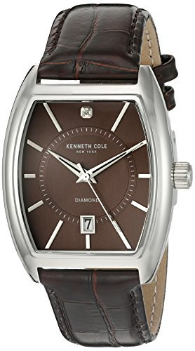 ケネスコール・ニューヨーク Kenneth Cole New York 腕時計 メンズ 10014805 【送料無料】Kenneth Cole New York Men's 10014805 Genuine Diamond Analog Display Japanese Quartz Browケネスコール・ニューヨーク Kenneth Cole New York 腕時計 メンズ 10014805