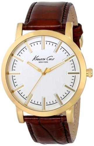 腕時計 ケネスコール・ニューヨーク Kenneth Cole New York メンズ KC8043 【送料無料】Kenneth Cole New York Men's KC8043 Gold-Tone Watch with Brown Leather Strap腕時計 ケネスコール・ニューヨーク Kenneth Cole New York メンズ KC8043