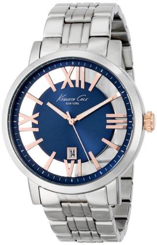 腕時計 ケネスコール・ニューヨーク Kenneth Cole New York メンズ KC9340 【送料無料】Kenneth Cole New York Men's KC9340 Transparency Round Blue Transparent Dial Bracelet Watch腕時計 ケネスコール・ニューヨーク Kenneth Cole New York メンズ KC9340