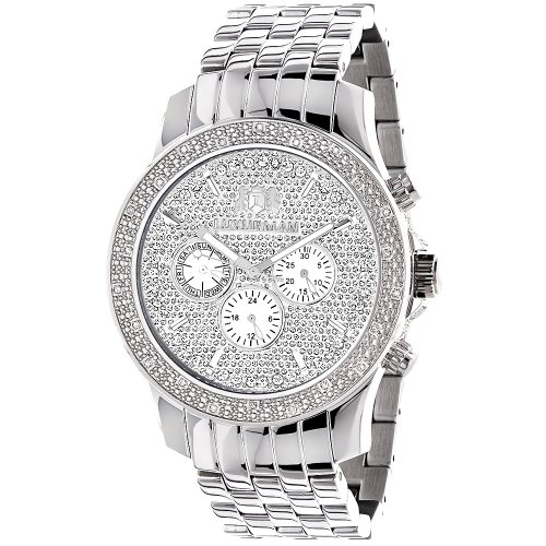ラックスマン 腕時計 メンズ Raptor 【送料無料】LUXURMAN Mens Real Diamond Watch 0.25ctラックスマン 腕時計 メンズ Raptor