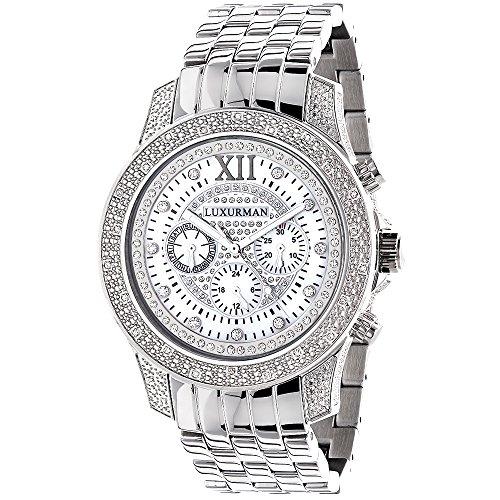 無料ラッピングでプレゼントや贈り物にも 逆輸入並行輸入送料込 腕時計 ラックスマン メンズ 売店 送料無料 Mens 0.50ct腕時計 LUXURMAN 特売 Diamond Watch Watches: