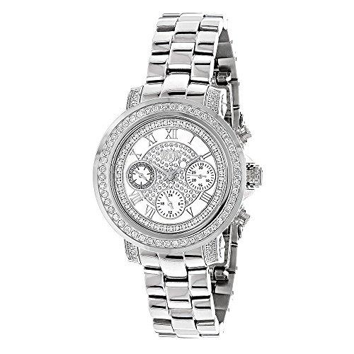 腕時計 ラックスマン メンズ 【送料無料】Mens and Ladies Diamond Watches: Luxuman Diamond Watch 2ct腕時計 ラックスマン メンズ